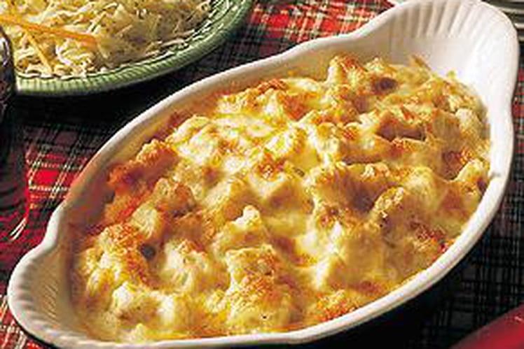 Gratin de pommes de terre à la dinde