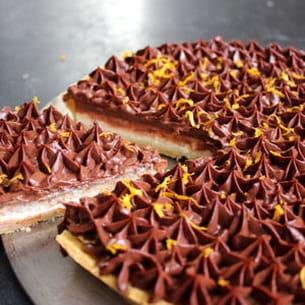 tarte chocolat façon cheesecake