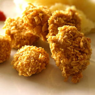 nuggets croustillants panés aux corn-flakes