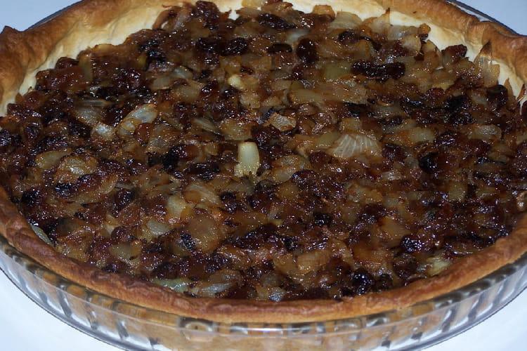 Tarte à l'oignon et aux raisins