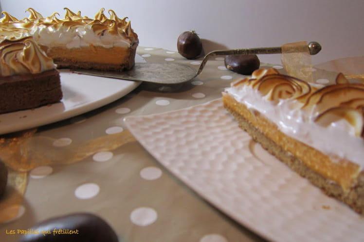 Tarte à la citrouille meringuée - Pumpkin tarte