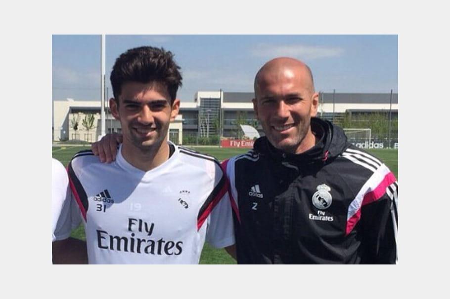 Zinedine Zidane et son fils Enzo