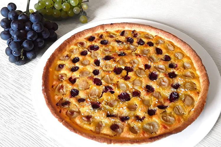 Tarte aux raisins muscat et chasselas