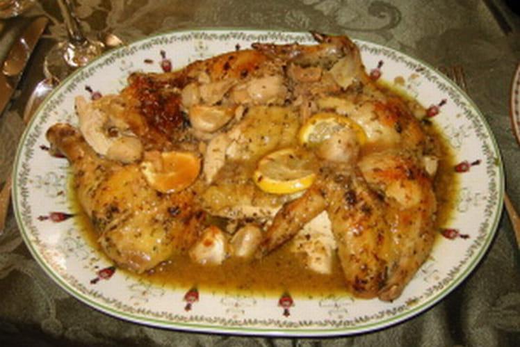Poulet au safran et amandes grillées