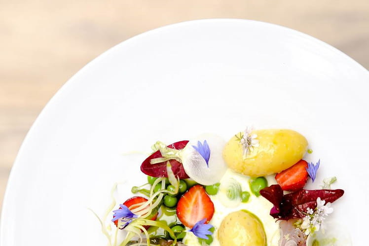 Pomme de terre de Noirmoutier en salade Maquereau et yaourt mentholé