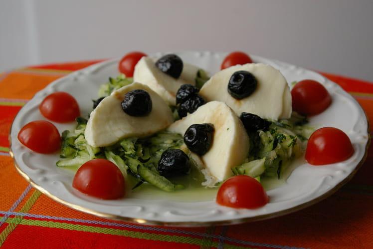 Courgettes marinées à la mozzarella
