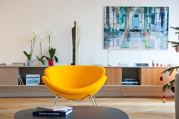 Art contemporain dans le salon