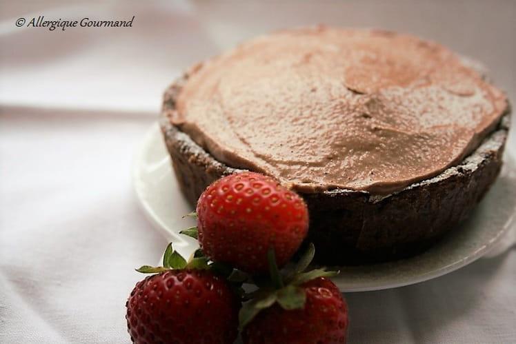 Tarte à la mousse au chocolat Bio, sans œufs ni gluten