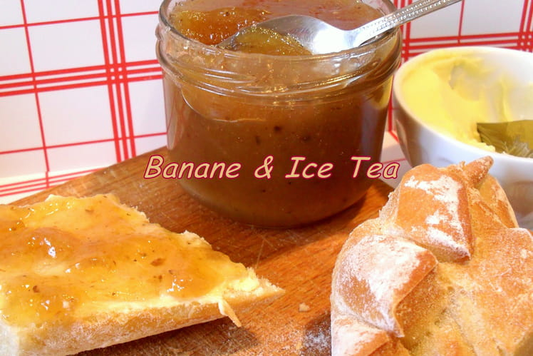 Confiture bananes-Ice Tea pêche