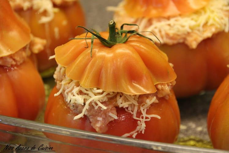 Tomates farcies à la volaille