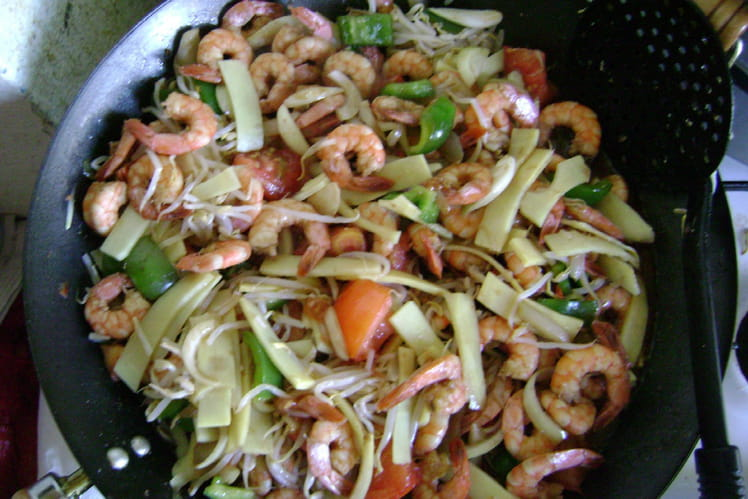 Crevettes majestueuses