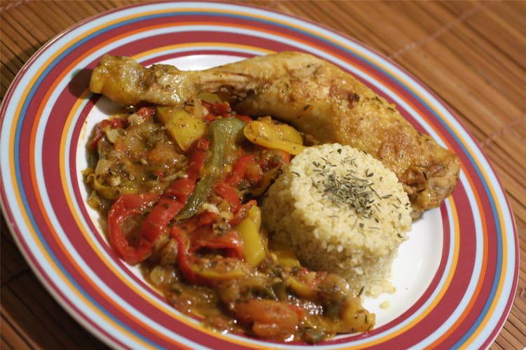 Poulet basquaise la meilleure recette - Cuisiner un poulet entier ...