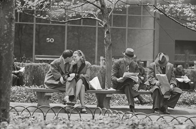 "Stanley Kubrick, from ""Park Benches: Love is Everywhere,"" 1946"