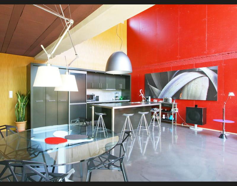 Une cuisine ouverte très moderne