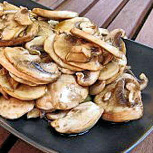 salade de champignons au gingembre