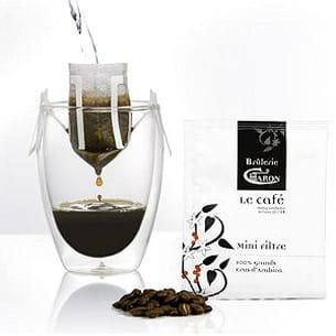 mini filtre de café caron