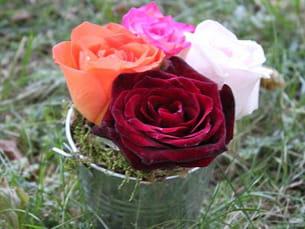 une mini composition florale à faire soi-même