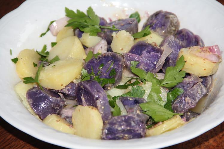 Salade aux deux pommes de terre