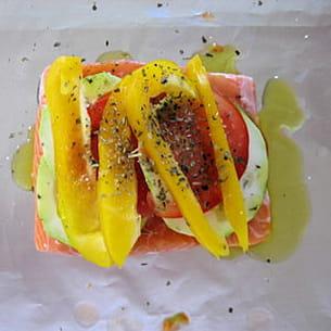 saumon à la provençale en papillote