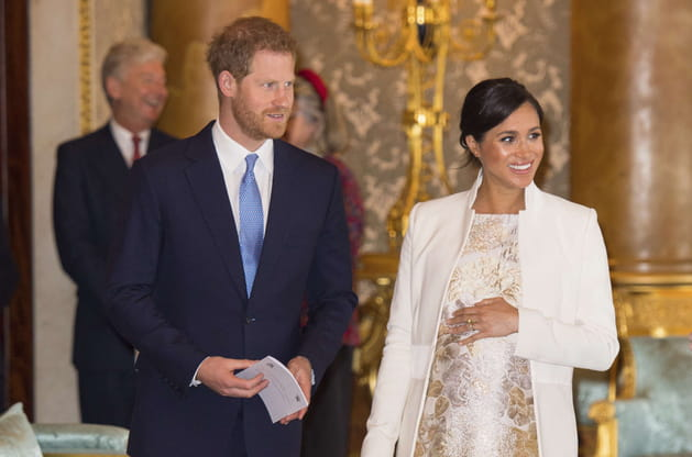 Meghan Markle et le prince Harry au Buckingham Palace