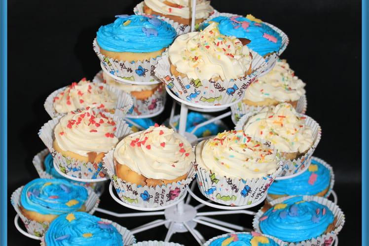 Cupcakes pêches-canelle et chocobon