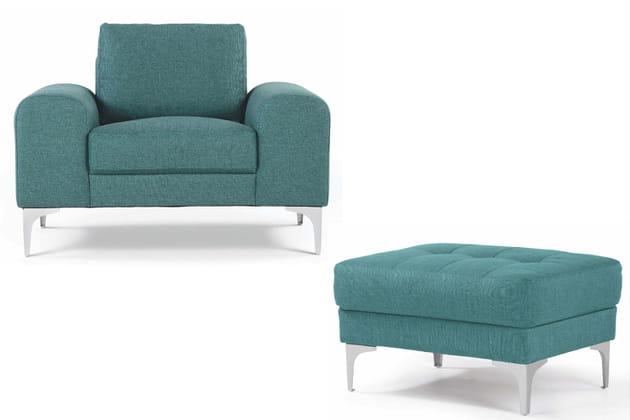 Un duo fauteuil et ottoman ultra confort
