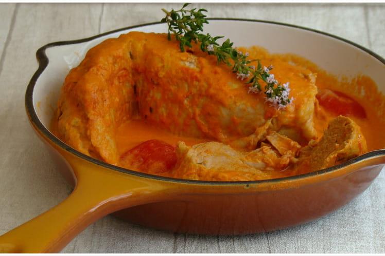 Filet mignon à la crème de tomate