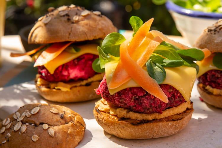 Burger vegan à la betterave