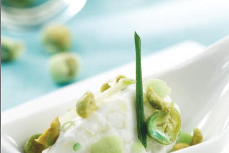 Chèvre frais pomme / croustillant wasabi