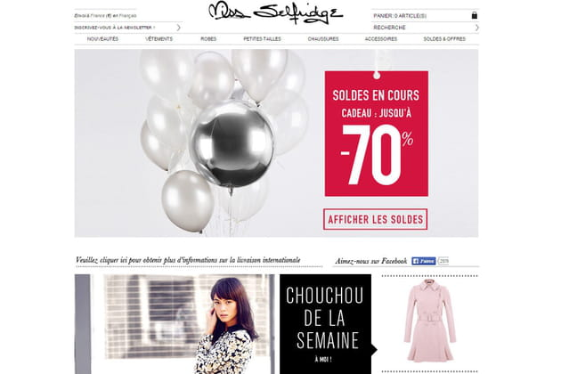 Le e-shop de Miss Selfridge
