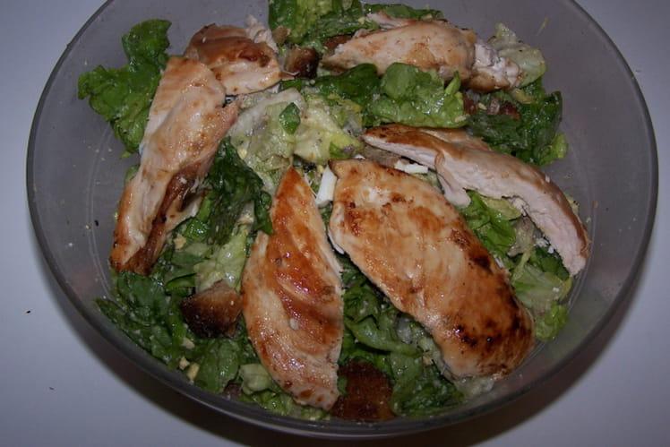 Salade aux blancs de poulet