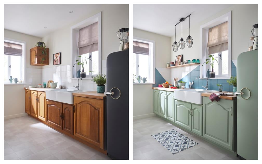 Des façades de cuisine modernisées en quelques coups de pinceau