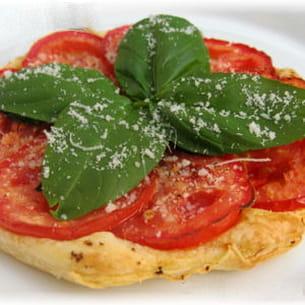 tarte fine tomate et basilic