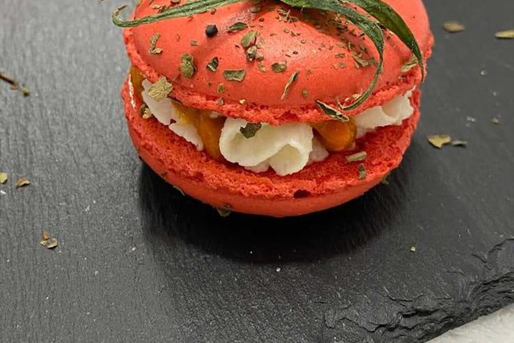 Macaron Tomates Mozzarella Basilic