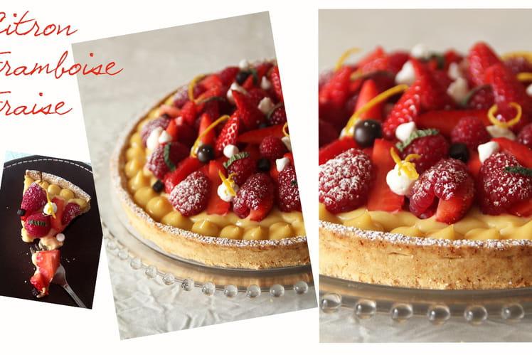 Tarte fraîcheur citron fraise framboise