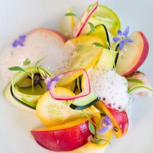 bellini : cocktail de langoustines sur assiette de denny imbroisi