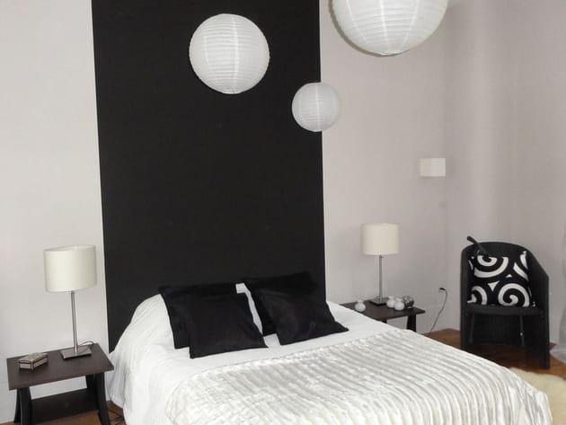 La chambre d 39 amis en noir et blanc for Decoration chambre d amis