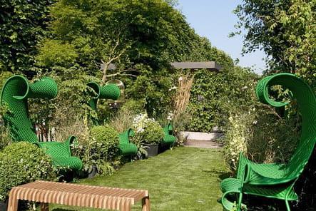 Des fauteuils verts