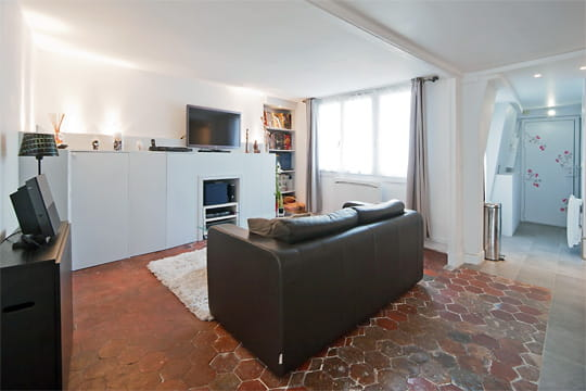 Appartement XVIIIe modernisé par MyHomeDesign : entrée et salon
