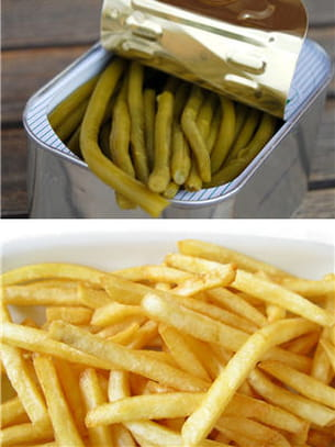 frites ou haricots verts.