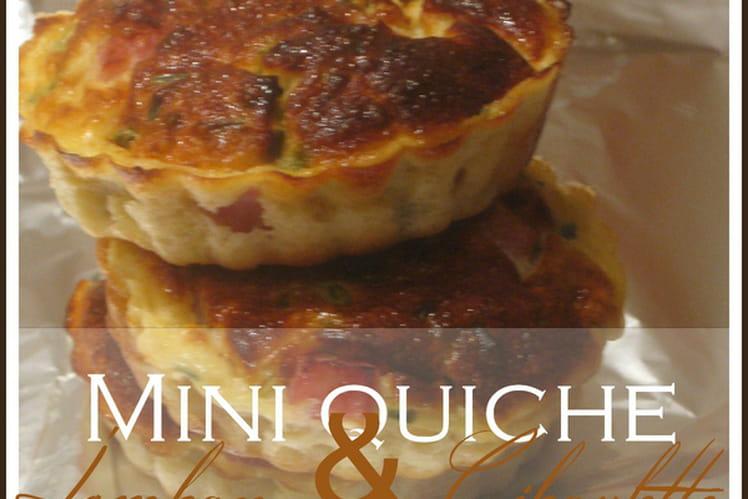 Mini quiche légère jambon ciboulette