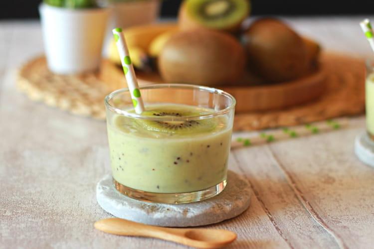 Smoothie Onctueux banane - coco - kiwi