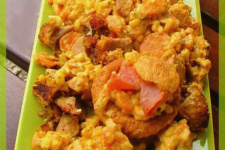 Barque d'épices chaudes coco pour légumes doux