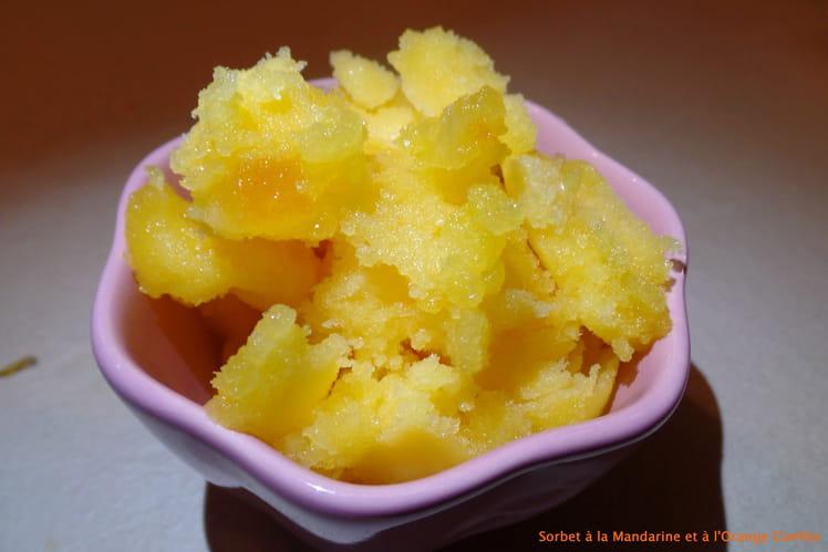 Sorbet à la mandarine et à l'orange confite