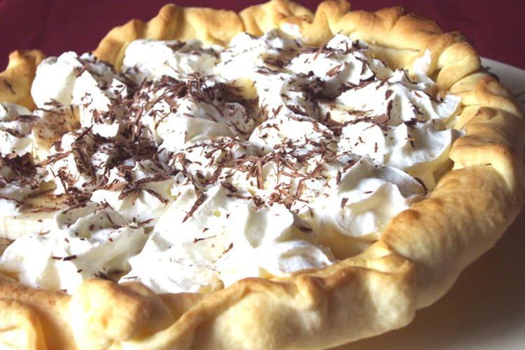 Banoffee pie aux copeaux de chocolat
