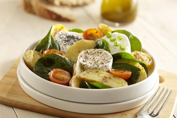 Salade de pommes de terre Ratte du Touquet et chèvre chaud