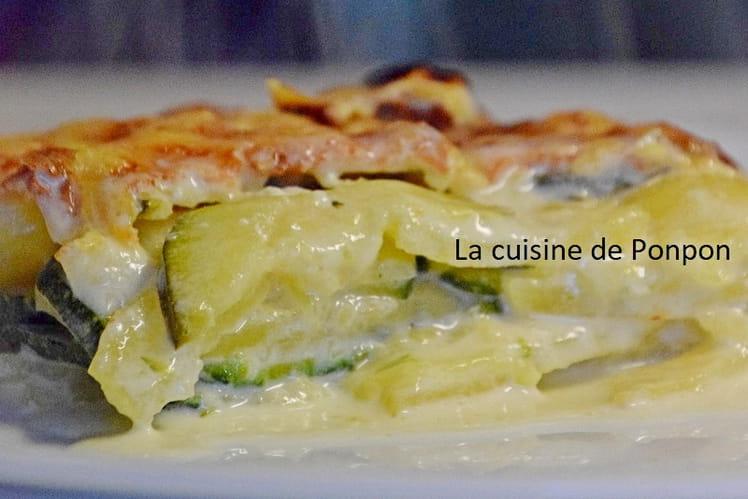 Gratin dauphinois et ses courgettes, plat végétarien