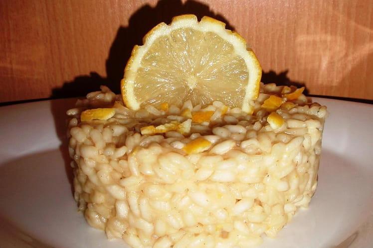 Risotto au citron et parmesan