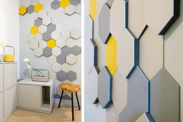 d co murale originale dans l 39 entr e. Black Bedroom Furniture Sets. Home Design Ideas