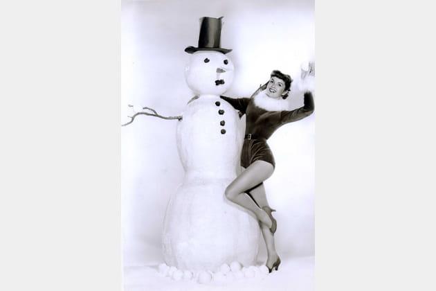 Debbie Reynolds en mère Noël